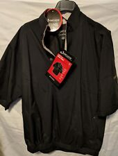 Mens DryJoys Short Sleeve Rain Shirt Black Footjoy Medium