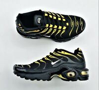 Nike Air Max Plus Tuned TN GS Black Yellow White 655020-057 Youth 5.5Y 7 Womens