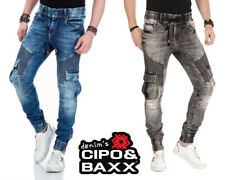 Cipo&Baxx Herren Jeans CD446 SLIM FIT Trousers Hose Stretch Jogger-Style