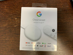 Google Chromecast with Google TV - Snow Brand new sealed