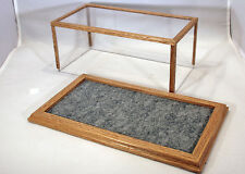 Golden Oak Model Car Display Case w/Marbled Gray Felt Floor 1:24 - C9