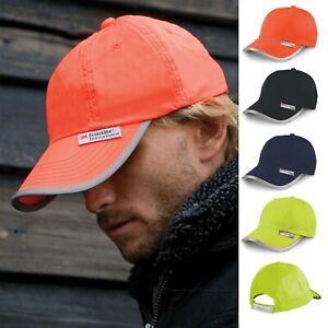 Hi Vis Baseball Cap High Viz Sun Hat 3M Dayglo Reflective Visibility Safety Cap