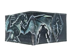 Elder Scrolls V Skyrim Wallet Purse Mens Kids Gaming PC PS4 Xbox MMO RPG Dragon