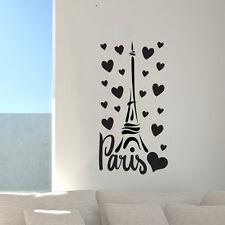 Torre Eiffel París Francia Amor Pared Arte Calcomanía Decoración Mural Adhesivo De Vinilo