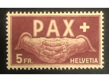 Switzerland 1945 PAX 5F. Fine, lightly mounted