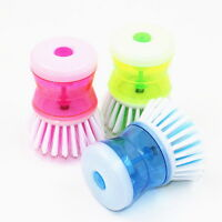 1pc Kitchen Wash Tool Pot Pan Dish Bowl Palm Brush Scrubber Cleaning Cleaner 34