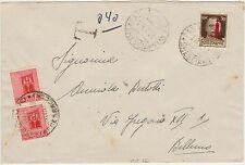 BUSTA TASSATA CON 2 X 20 CENT RSI ROSA DA FASANO X BELLUNO 19.7.1944