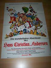 DIE WUNDERBAREN ABENTEUER DES HANS CHRISTIAN ANDERSEN - Kinoplakat A1 ´69