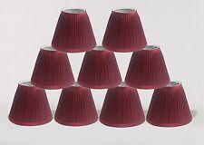"Urbanest Random Mushroom Pleat Chandelier Lamp Shades,3""x6""x5"",Burgundy,Set of 9"