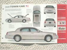 1998 / 1999 Lincoln TOWN CAR IMP Brochure: CARTIER