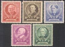 USA 1940 Famous Americans/Educationalists/People/Education 5v set (n41374)