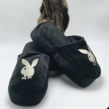 Women's Playboy Black Slippers