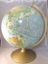 "Rand McNally 12"" World Portrait Topography Globe Vgc Ussr!"