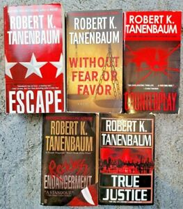 ROBERT K TANNENBAUM THRILLER MYSTERY SUSPENSE CRIME PAPERBACK 5 BOOK LOT