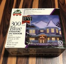 Rite Aid Christmas Holidays 300-Count Blue Indoor/Outdoor Icicle Lights Decor