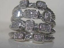 $1250 DAVID YURMAN CONFETTI STERLING PAVE DIAMOND RING
