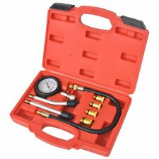 vidaXL 8 Piece Petrol Engine Compression Tester Kit Cylinder Pressure Test Set