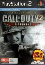 SONY PS2 CALL OF DUTY 2 BIG RED ONE COLLECTORS EDITION PLAYSTATION PAL +NET PLAY