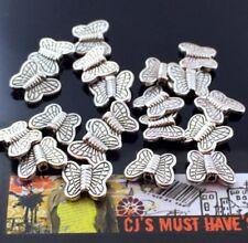 ✤ Nuevo 20 Tibetano Antiguo Mariposa De Plata De Insectos cuentas ✤ la fabricación de joyas ✤