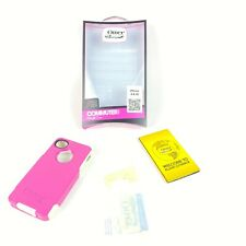 OtterBox Commuter Case iPhone 4 & 4S Pink & White 77-18549 New Screen Protector