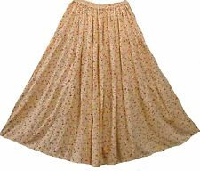 Nwot pink cream small flowers rayon tier full SKIRT XL Free shipping
