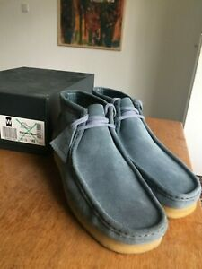 Clarks Wallabee Boot - Blue Suede - Mens UK 10.5/EU 45