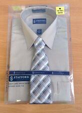 """Stafford Essentials Men's Shirt + Tie Brand New in Box/Unopened M 15-15.5"""""""