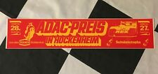 1975 HOCKENHEIM ADAC PREIS DRM ORIGINAL PERIOD STICKER AUTOCOLLANT FORD ZAKSPEED