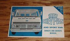 Original 1967 Chevrolet Chevy-Van & Sport Van Owners Operators Manual 67