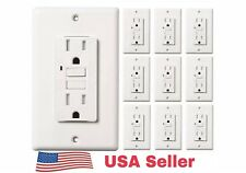 15 AMP GFCI GFI (10PACK)Receptacle Outlet TAMPER RESISTANT TR WR WHITE UL GFCI