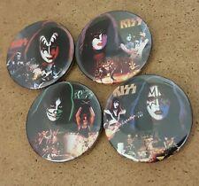 "Kiss Alive Era 1.5"" Badge Set Gene Simmons Paul Stanley Peter Criss Ace Frehley"