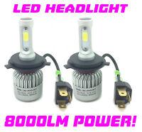 H4 COB LED Headlight Bulbs Kit 8000 Lumens 12V 24V Canbus 100W For Ford Cars