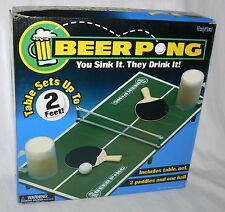 Party Hard Beer Pong Adult Drinking Game 2 Paddles Balls Table Set Top Drink