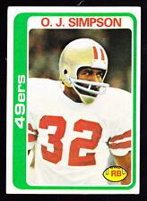 1978 TOPPS #400 O. J. SIMPSON 49ers