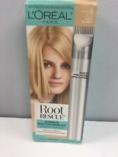 LOREAL Hair Color ROOT RESCUE Coloring Kit LIGHT BLONDE Matches 9 *Box Wear*