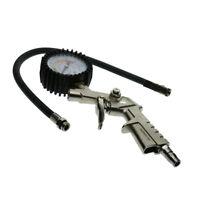 Manomètre Pneu Gonfleur Jauge Flexible Tuyau 220 Psi Pistolet Style Air