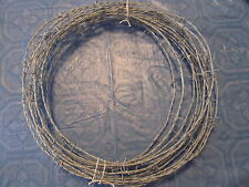 20' NEW ROLL BARB WIRE 4 POINT GAUCHO BRAND 18 GAUGE [BATS] CRAFTS FREE SHIPPING