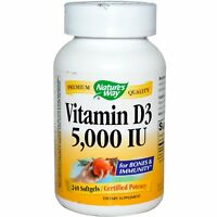 Vitamin D3 Softgels by Nature's Way - For Bones & Immunity - 240 - 5000iu