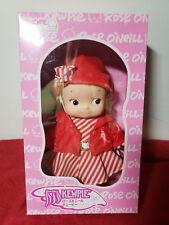 New Rose O'Neill Kewpie Red Stripe Dress Nrfb! Free Shipping!