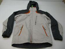 COLUMBIA Jacket Men's Size M STORM DRY Fleece Lined Full Zip Gray Hooded