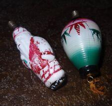 Anciennes ampoules opaline boule de noël décoration sapin