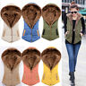 New Winter Women Hooded Sleeveless Hoodies Thick Warm Waistcoat Vest Coat Jacket