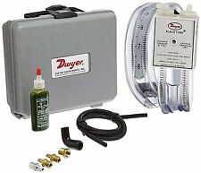 Dwyer 1212 Gas Pressure Kit with 1211-16 Slack Tube Manometer (8-0-8w.c.)