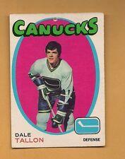 (1) CANUCKS # 234 DALE TALLON  1971-72 O-PEE-CHEE CARD (H0011)