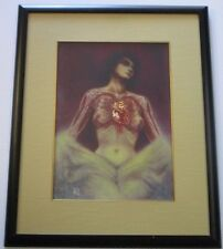 PATRICIA VETTER HAND DETAILED LITHOGRAPH LIMITED SIGNED SURREAL NUDE WOMAN AP