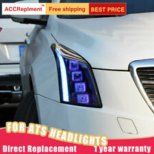 2PCS For Cadillac ATS Headlights Assembly All Led Lens Projector 2013-2019
