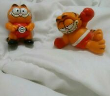 1970' Vintage Garfield Pvc Applause Toy - Mcdo 00004000 Nald'S #59 #60