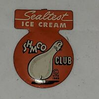 VINTAGE SHMOO TAB PIN BUTTON ADVERTISING SHMOO CLUB SEALTEST ICE CREAM