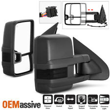 2014-2017 Chevy Silverado GMC Sierra Power Heated Smoked LED Side Towing Mirrors