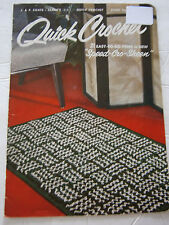 Vtg Quick Crochet Book 300 Rug Pot Holder Hat Tote Pillow Slippers Pattern Book